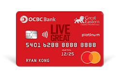 If you're health-conscious and really into wellness, the OCBC Great Eastern Card is for you. With a 1.5% rebate on your health insurance, you can both save your wallet and your health.