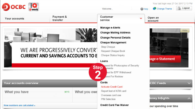 Credit Card Activation Guide   OCBC Personal Banking